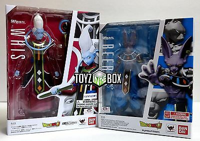 "In STOCK S.H. Figuarts Dragoball Z Super ""Whis + Beerus"" Action Figure"