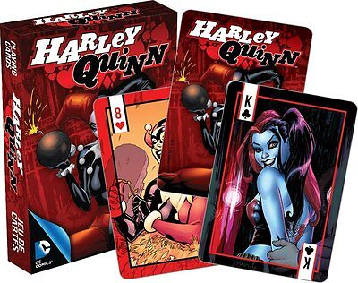 Harley Quinn set of 52 playing cards (red box version) (nm 52368)