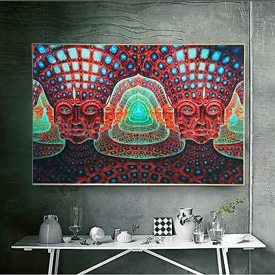 Wall Art Psychedelic Trippy Art Silk Cloth Poster 36 x 24''