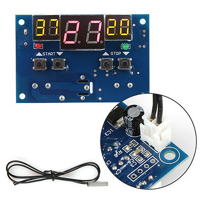 12V Intelligent Digital Display Thermostat Temperature Controller Switch -9-99℃
