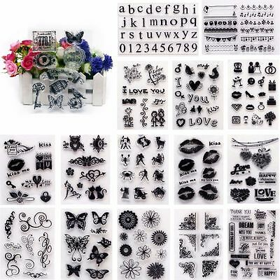 Wholesale Alphabet Silicone Clear Rubber Stamp Sheet Cling Scrapbooking DIY