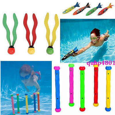 Underwater Multi Colour Swim Swimming Pool Diving Ring Stick Ball KIDS Toys Play