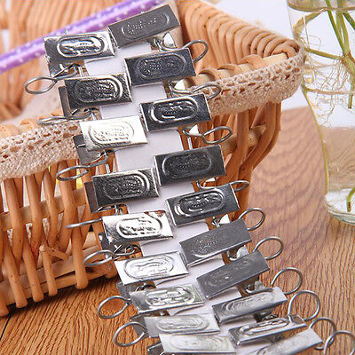 40pcs Metal Stainless Steel Window Shower Curtain Rod Clip Rings ...
