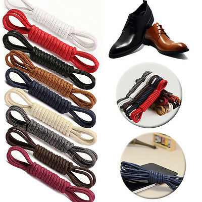 2.5mm Cotton Waxed Thin Round Shoelaces Dress Wax Cord Laces Brogues Shoe Hot