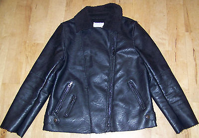 Girls ZARA Faux Leather Jacket Age 11-12.