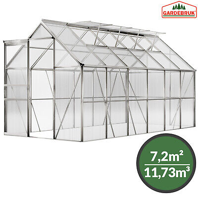 Large Greenhouse Garden Glass House Cold Frame Aluminium 11.73m³ Polycarbonate