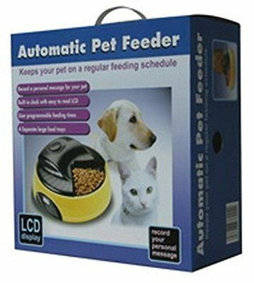 4 Meal/day Automatic Pet Feeder Drinker Ice Cat Dog Holiday Auto Dispenser Bo...
