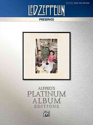 Led Zeppelin -- Presence Platinum Bass Guitar: Authentic Bass Tab by Alfred Publ