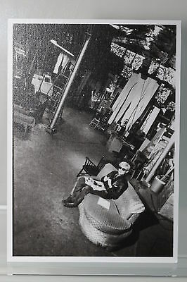 ANDY WARHOL at THE FACTORY,1967,  Kunst-Postkarte