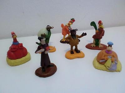Aardman Animation Chicken Run Movie Film PVC Toy Figures Cake Toppers Set x 7