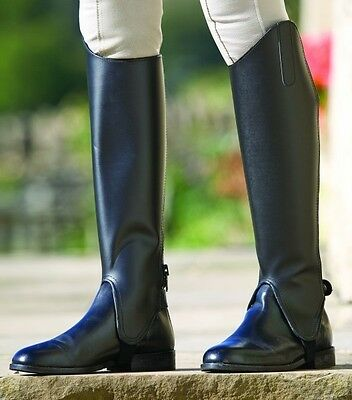 Shires Leather Gaiters Black various sizes