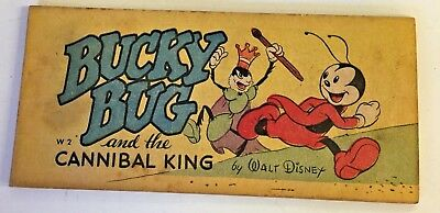 Vtg 1947 BUCKY BUG & Cannibal King Cereal Comic Walt Disney Cheerios Mail In WOW