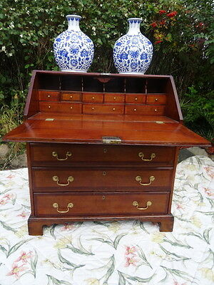 Georgian Style Country Antique Fine Oak Lancashire Bureau Chest Desk