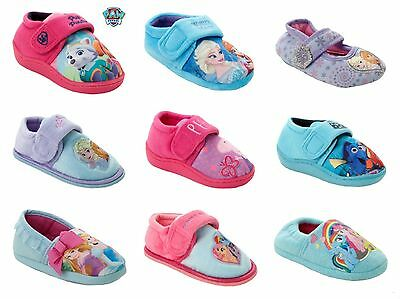 New Girls Official Cartoon Character Novelty Slippers Infants Kids Uk Size 4-12