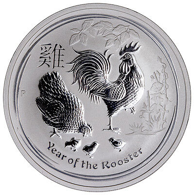 2017-P Australia $1 1 oz. Silver Lunar Year of the Rooster In Mint Cap SKU43102