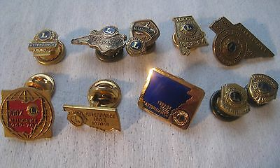 LIONS CLUB Attendance Awards Pin Lot – 1948 To 1984