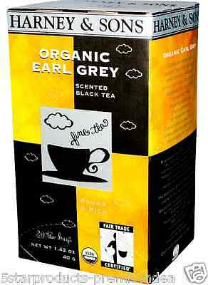New Harney & Sons Organic Earl Grey Scented Black Tea Herbal Fair Trade Daily