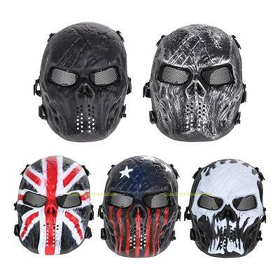 Airsoft Paintball Game Tactical Full Face Protect Safety Skull Mask Army Outdoor