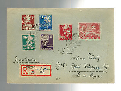 1949 Kitzen East Germany DDR cover to Bad Wessee