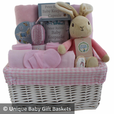 Baby gift basket/hamper Flopsy 4 piece clothes set girl baby shower nappy cake