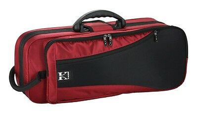 Kaces Bb Trumpet Case, Lightweight Foam, 1200D Nylon Covers, Red, KBFR-TP4
