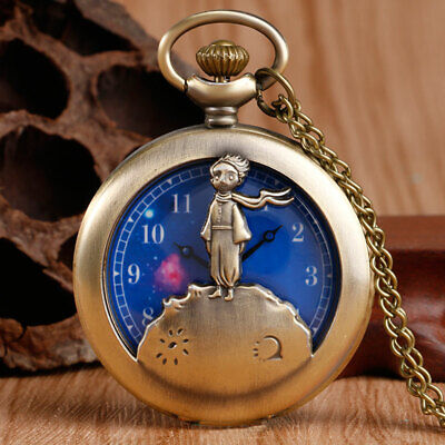 Le Petit Prince Necklace Antique Bronze Style Pocket Watch The Little Prince New