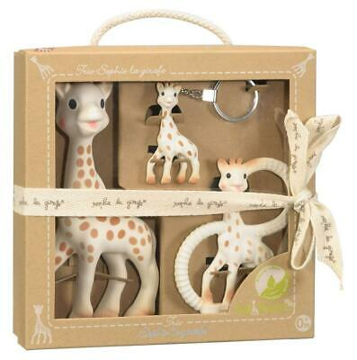 Sophie The Giraffe So Pure Trio Gift Set Toy Teething Ring & Key Chain by Vulli