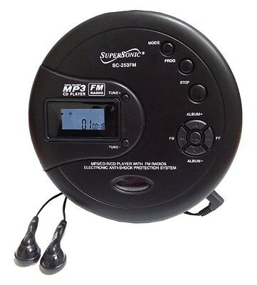Supersonic Personal MP3/CD Player with FM Radio SC253FM