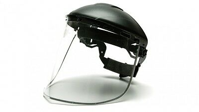 Pyramex Safety Visors S1015 Aluminum bound PETG faceshield Headgear NOT Included