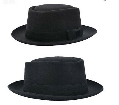BREAKING BAD BB Hat Walter White Cosplay Heisenberg Hat Pork Pie Cap Black Men's