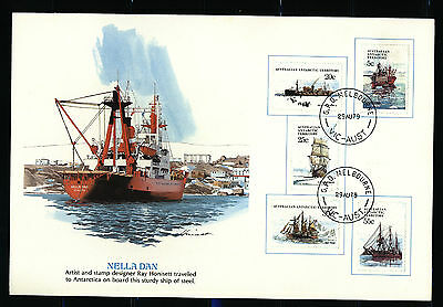 """Australia FDC - Rare """"Domestic"""" Cancel on 1979 AAT Ships First Series"""