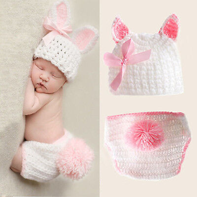 Baby Girls Boys Newborn Crochet Knit Costume Photo Photography Prop Outfits AS