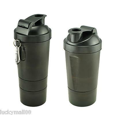Gift Plastic Seal Protein Powder Shaker 3 Layers of Blender Mixer water Bottle