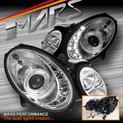 Crystal DRL Head lights for Mercedes-Benz E-Class W211 03-08 -HALOGEN TYPE ONLY