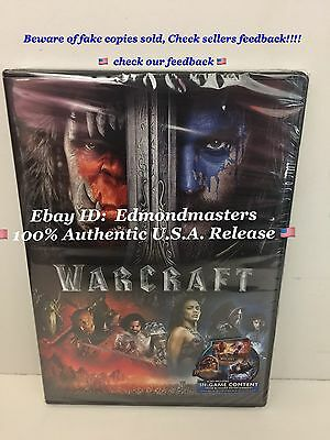 Warcraft 2016 DVD Brand New 100% Authentic U.S. Release (BEWARE OF CHEAP FAKES!)