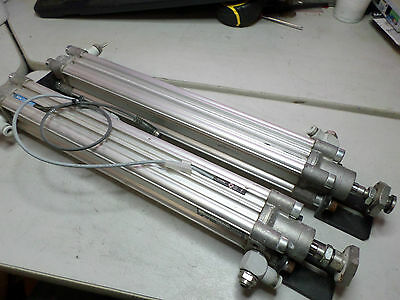 REXROTH AIR CYLINDERS  Qty of 2 - 32 bore x 250 stroke PRA/32/250 w/Flow control