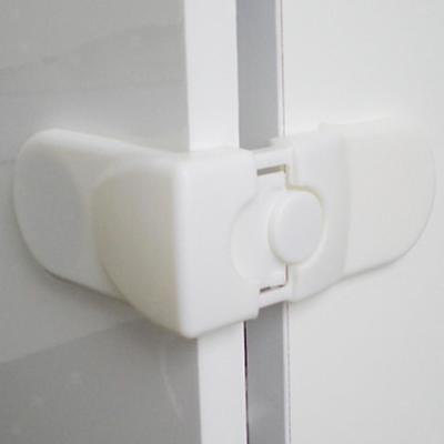 5pcs Drawer Cabinet Catches Corner Lock Baby Safety Protector Clips White