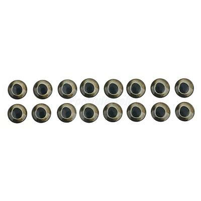 20 Piece Fish Eyes Holographic Lure Eyes for FlyTying Jigs Crafts Dolls 10mm