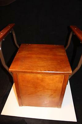 Amish Antique Chamber Pot Commode Portable Toilet Wood Porcelain Potty Lid