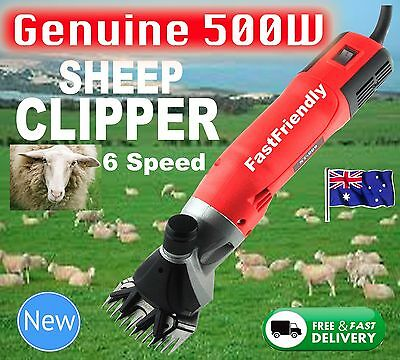 New 500W Electric Sheep Shearing Supplies Goats Clipper Shear Shears Alpaca Farm