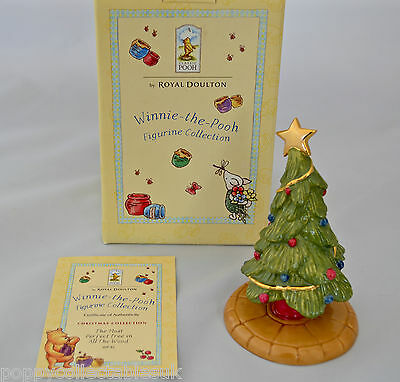 Royal Doulton Winnie-The-Pooh Christmas Figurine *the Most Perfect Tree..* Wp 42