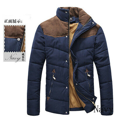 Men's Stylish Warm Down Jackets Zipper Coat Jacket Winter Warm Cover Men Fashion
