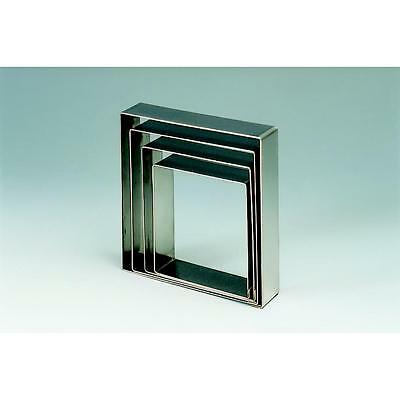 "Square Shape Stainless Steel Cake Ring 20x20cm / 7.9""x7.9"" by Martellato"
