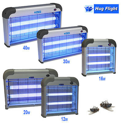12/16/20/30/40 W Electric Industrial UV Zapper Kitchen Fly Insect Bug Killer