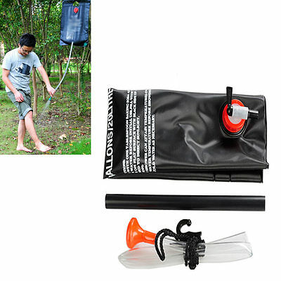 20L Portable Outdoor Camping Hiking Solar Energy Heated Camp Shower Pipe Bag
