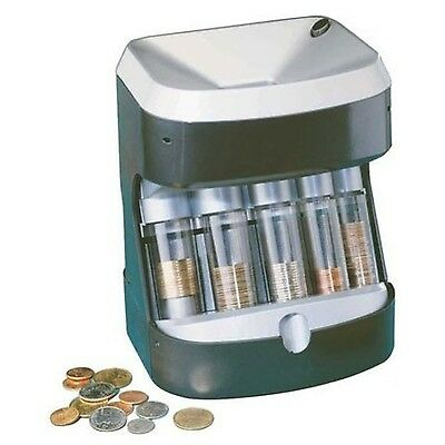 Motorized Coin Sorter Counter Holder Wrapper PING new