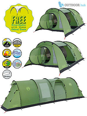 Coleman Cabral Tent 4 5 6 Man Family Tunnel Camping Tent Event Shelter Gazebo