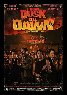 From Dusk Till Dawn 03 (George Clooney And Quentin Tarantino) Film Poster Photo