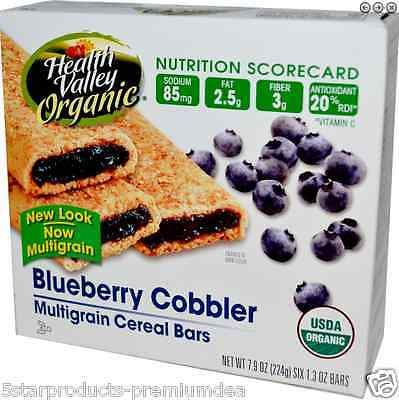 New Health Valley Organic Multigrain Cereal Bars Low Sodium Daily Kosher Foods