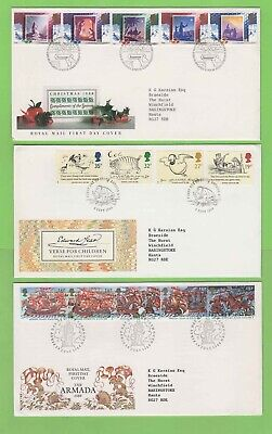 GB 1988 Collection of eight First Day Covers with Special Cancels